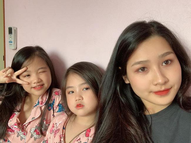 Nghỉ dịch rảnh rỗi, cô chị mang 2 em gái ra tập tành trang điểm ai ngờ lại thu được thành quả đẹp hơn cả mỹ nhân - Ảnh 4.