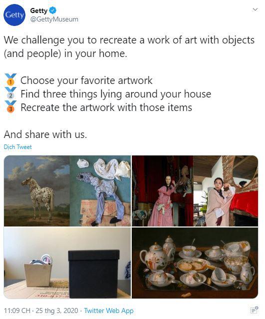 Ở nhà tránh Covid-19, dân mạng thi nhau sử dụng đồ dùng gia đình để bắt chước theo những tác phẩm nghệ thuật nổi tiếng thế giới - Ảnh 1.