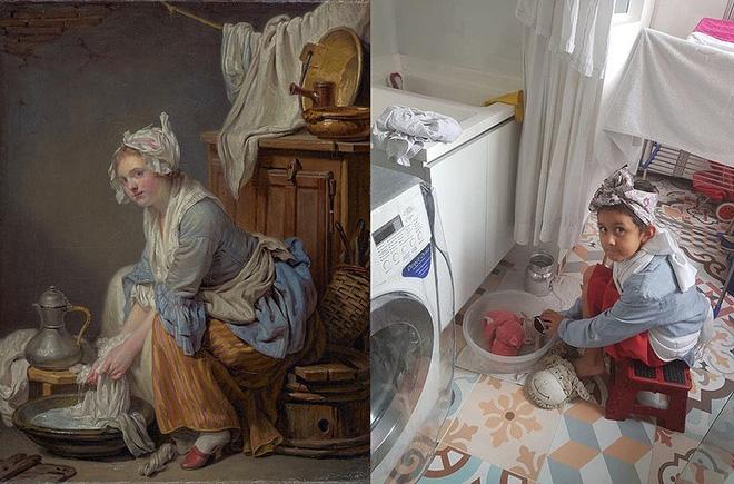 Ở nhà tránh Covid-19, dân mạng thi nhau sử dụng đồ dùng gia đình để bắt chước theo những tác phẩm nghệ thuật nổi tiếng thế giới - Ảnh 2.