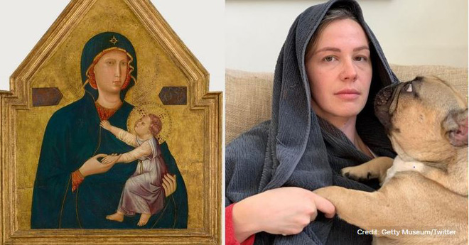 Ở nhà tránh Covid-19, dân mạng thi nhau sử dụng đồ dùng gia đình để bắt chước theo những tác phẩm nghệ thuật nổi tiếng thế giới - Ảnh 12.