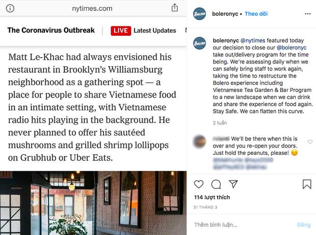 Một nhà hàng Việt Nam ở New York lên báo Mỹ vì cách bán hàng online độc đáo trong mùa dịch, khi ngừng hoạt động vẫn gây chú ý - Ảnh 8.