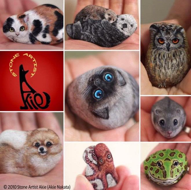 Nghệ sỹ Nhật biến những viên đá đơn điệu thành những tác phẩm nghệ thuật đầy quyến rũ - Ảnh 12.