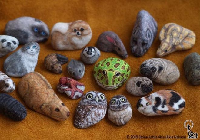 Nghệ sỹ Nhật biến những viên đá đơn điệu thành những tác phẩm nghệ thuật đầy quyến rũ - Ảnh 10.