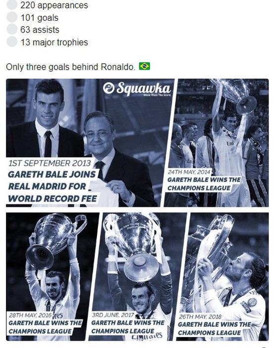 Gareth Bale bị xem thường dù có nhiều danh hiệu hơn Zidane, Ronaldo và Figo - Ảnh 1.