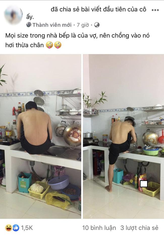Hội chị em đua nhau khoe ảnh dìm hàng mấy ông chồng khi đang vào bếp những ngày nghỉ dịch, thật sự trông ai cũng tội nhưng vẫn không nhịn được cười - Ảnh 4.