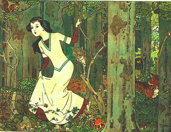 Hai nguyên bản của cổ tích Bạch Tuyết và 7 chú lùn: Người xinh đẹp chết vì tình yêu với hoàng tử, người bị mẹ kế ghen tị đủ đường - Ảnh 1.