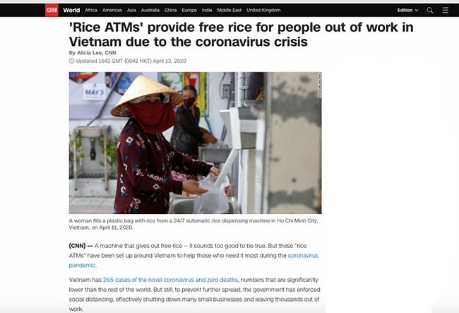 """""""ATM gạo"""" của Việt Nam xuất hiện trên một loạt các trang tin quốc tế, thu hút sự quan tâm đặc biệt - Ảnh 2."""