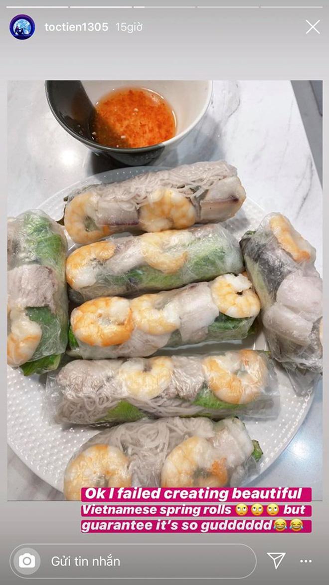 Không nhà hàng đắt đỏ, sao Vbiz tiết kiệm với mâm cơm nhà mùa dịch: Tóc Tiên nịnh chồng món ngon, Băng Di nấu bữa chỉ 50K - Ảnh 2.