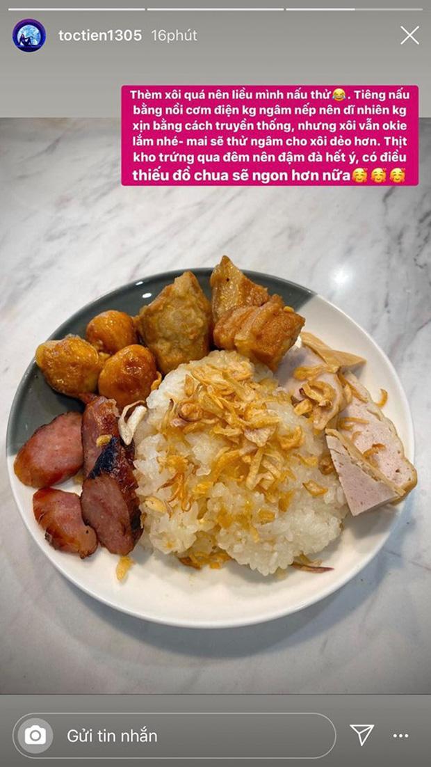Không nhà hàng đắt đỏ, sao Vbiz tiết kiệm với mâm cơm nhà mùa dịch: Tóc Tiên nịnh chồng món ngon, Băng Di nấu bữa chỉ 50K - Ảnh 4.