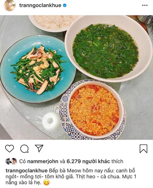 Không nhà hàng đắt đỏ, sao Vbiz tiết kiệm với mâm cơm nhà mùa dịch: Tóc Tiên nịnh chồng món ngon, Băng Di nấu bữa chỉ 50K - Ảnh 7.