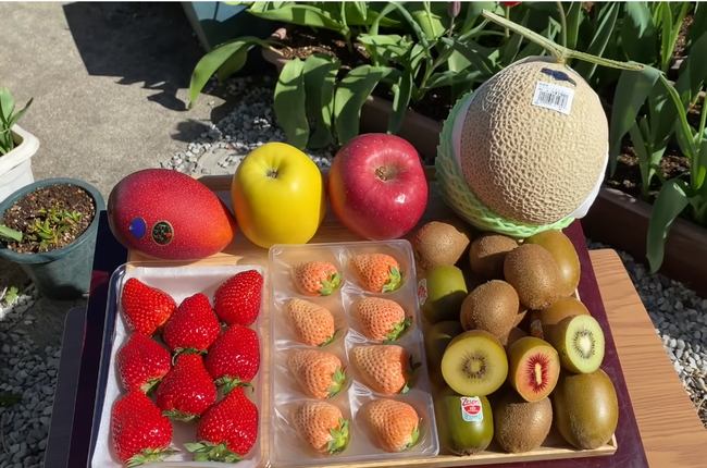 Quỳnh Trần JP khoe mâm trái cây siêu đắt đỏ, mua hẳn giống xoài giá cả triệu đồng 1 trái về ăn giữa trời nắng nóng - Ảnh 3.