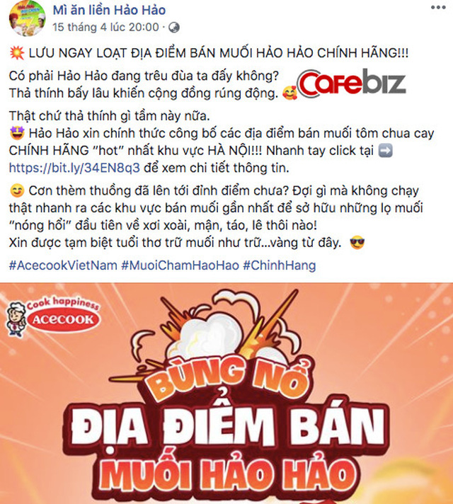 """Muối chấm """"quốc dân"""" Hảo Hảo chua cay chính thức ra mắt thị trường giữa mùa dịch, chỉ mới bán ở Hà Nội - Ảnh 1."""