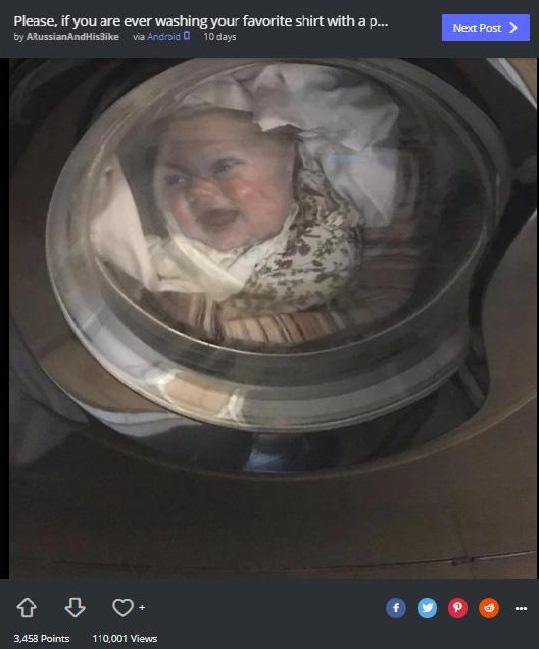"""Ông bố thót tim khi thấy con đang nằm gọn trong máy giặt, biết được sự thật, cư dân mạng không ngừng cười """"ha ha"""" - Ảnh 2."""