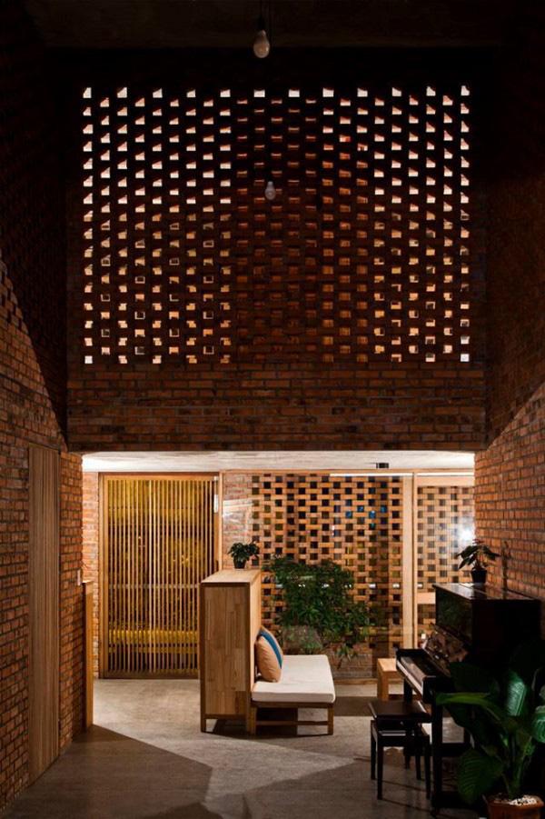 Ngôi nhà bằng gạch đỏ chống nóng không lo lỗi thời - Ảnh 10.