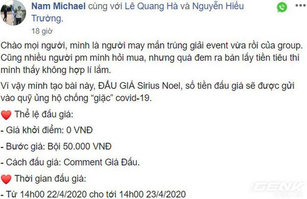 Đấu giá một nút bàn phím bé bằng đốt tay, dân chơi phím cơ Việt Nam ủng hộ 50 triệu cho quỹ chống COVID-19 - Ảnh 2.