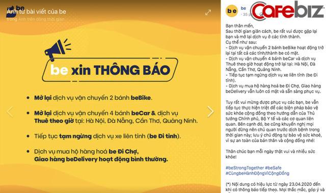 Từ 23/4, GrabBike chính thức hoạt động trở lại tại Hà Nội, GrabCar mở lại trên nhiều tỉnh thành, trừ TPHCM - Ảnh 2.