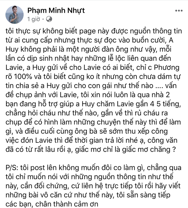 Phùng Ngọc Huy bị đồn 6 năm chỉ chu cấp cho bé Lavie 12-13 triệu, cựu quản lý Mai Phương lên tiếng gay gắt - Ảnh 1.