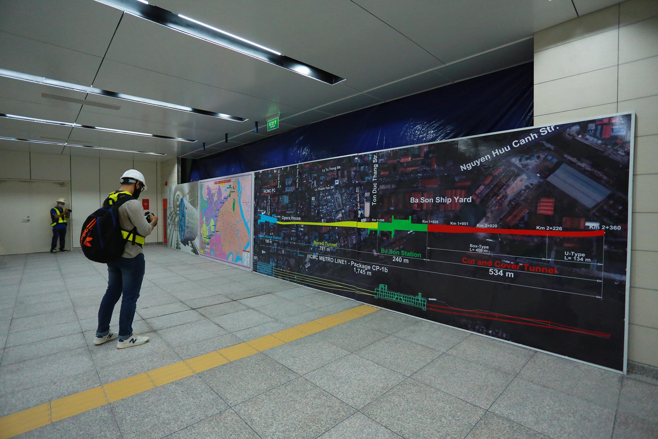 Ga ngầm 4 tầng đầu tiên của Metro TP.HCM sắp hoàn thiện, nằm sát bên Nhà hát thành phố - Ảnh 16.