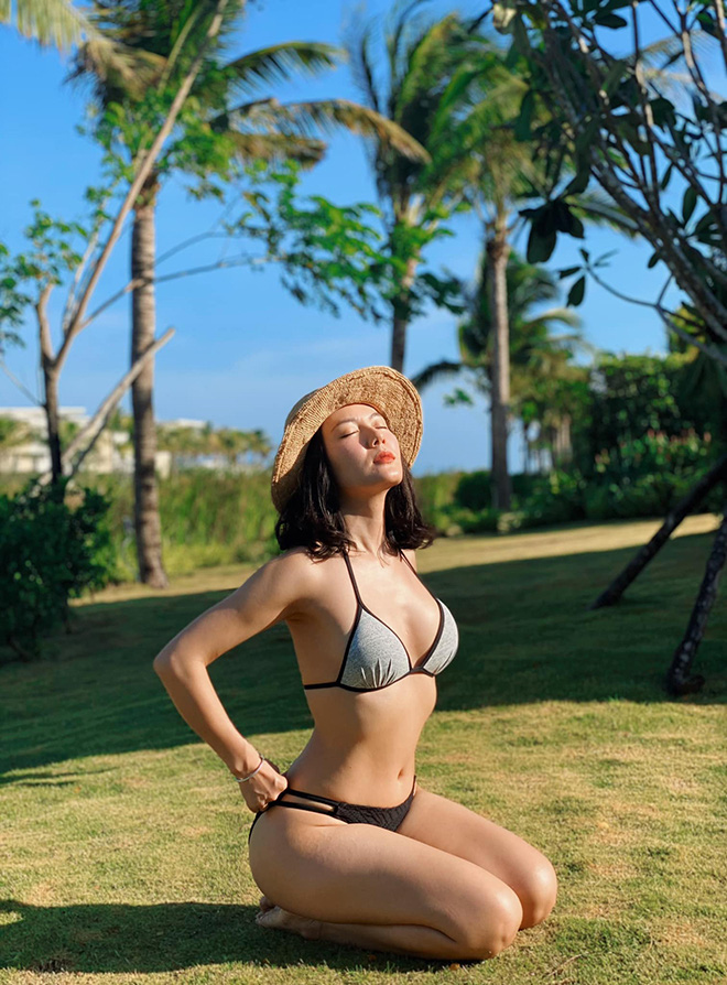Tung loạt ảnh diện bikini gợi cảm, Phương Linh tiết lộ số đo 3 vòng gây bất ngờ - Ảnh 2.
