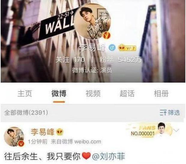 Rộ tin Lưu Diệc Phi - Lý Dịch Phong hẹn hò với bằng chứng rần rần trên mạng xã hội - Ảnh 2.