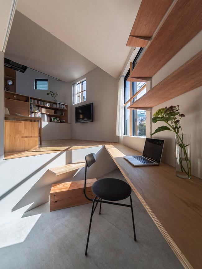 Ngôi nhà nhỏ ở Nhật được thiết kế siêu độc đáo để ăn gian diện tích, giúp nhà rộng hơn nhờ vào các không gian chức năng được chia theo... toán học - Ảnh 3.