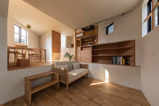 Ngôi nhà nhỏ ở Nhật được thiết kế siêu độc đáo để ăn gian diện tích, giúp nhà rộng hơn nhờ vào các không gian chức năng được chia theo... toán học - Ảnh 4.
