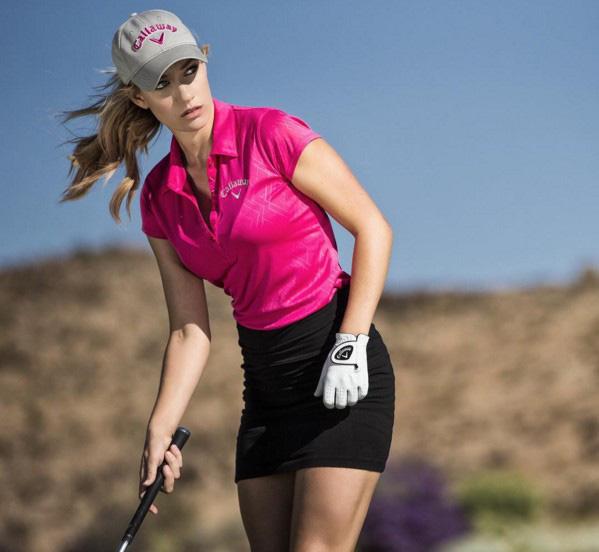Nữ golf thủ dùng ngực đánh golf gây 'bão mạng' - Ảnh 2.