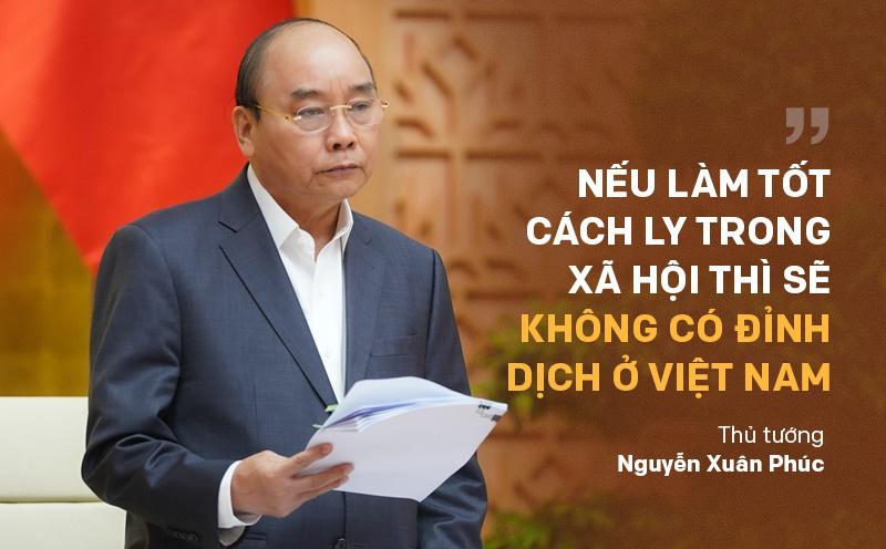 Thủ tướng: Tiếp tục triển khai mạnh mẽ các giải pháp cách ly xã hội đến ngày 15/4