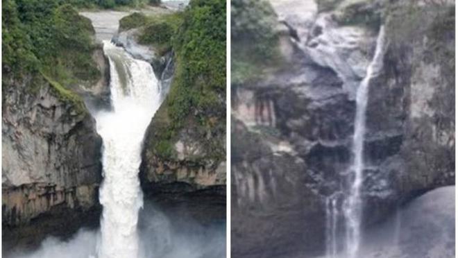 Hố tử thần bí ẩn nuốt chửng thác nước lớn nhất Ecuador - Ảnh 1.