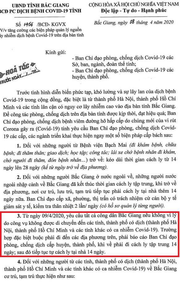 Phó Chủ tịch Bắc Giang: Người nhà ở Hà Nội ốm mà tôi không ra thăm được - Ảnh 1.