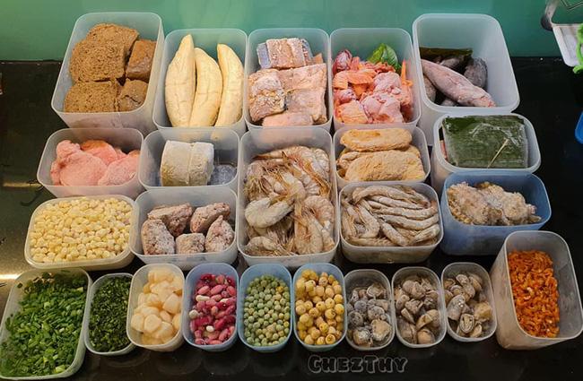 Mẹ 9x chia sẻ cách trữ đông thực phẩm không bị dính thành tảng cực dễ làm - Ảnh 2.