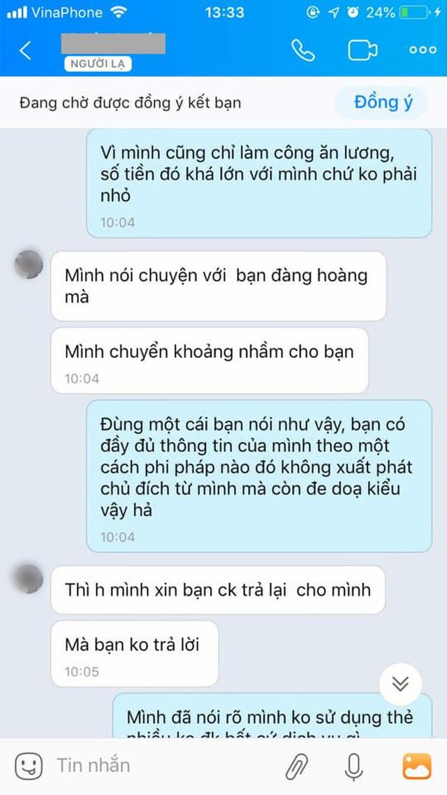 Chuyển nhầm 30 triệu qua tài khoản Vietcombank của người lạ rồi truy SĐT để nhắn tin như đòi nợ: Dân mạng bất bình, ngân hàng lên tiếng - Ảnh 2.