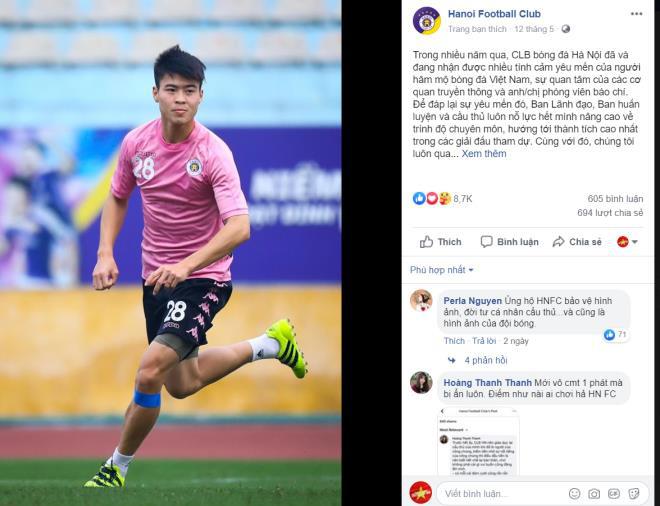 Duy Mạnh đánh vợ chỉ là tin đồn mà CLB Hà Nội lên tiếng thì không ổn chút nào - Ảnh 1.