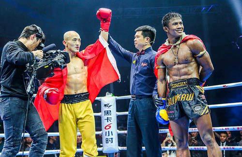 Bị tố mua trọng tài, đệ nhất Thiếu Lâm thách đấu cao thủ Muay Thái theo điều luật khốc liệt - Ảnh 1.
