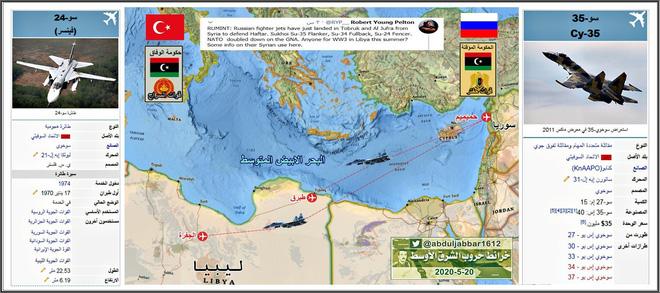 Su-35 hộ tống MiG-29, Su-24 dồn dập hạ cánh xuống Libya: Gấu Nga lâm trận? - Ảnh 1.