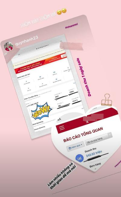 Vừa tiết lộ doanh thu 1 tháng gần 2 tỷ, bà bầu 9X Quỳnh Anh - vợ cầu thủ Duy Mạnh đã mạnh tay sắm cả núi đồ hiệu - ảnh 2