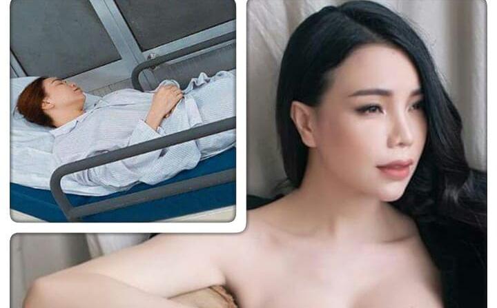 Trà Ngọc Hằng bị tai nạn gãy