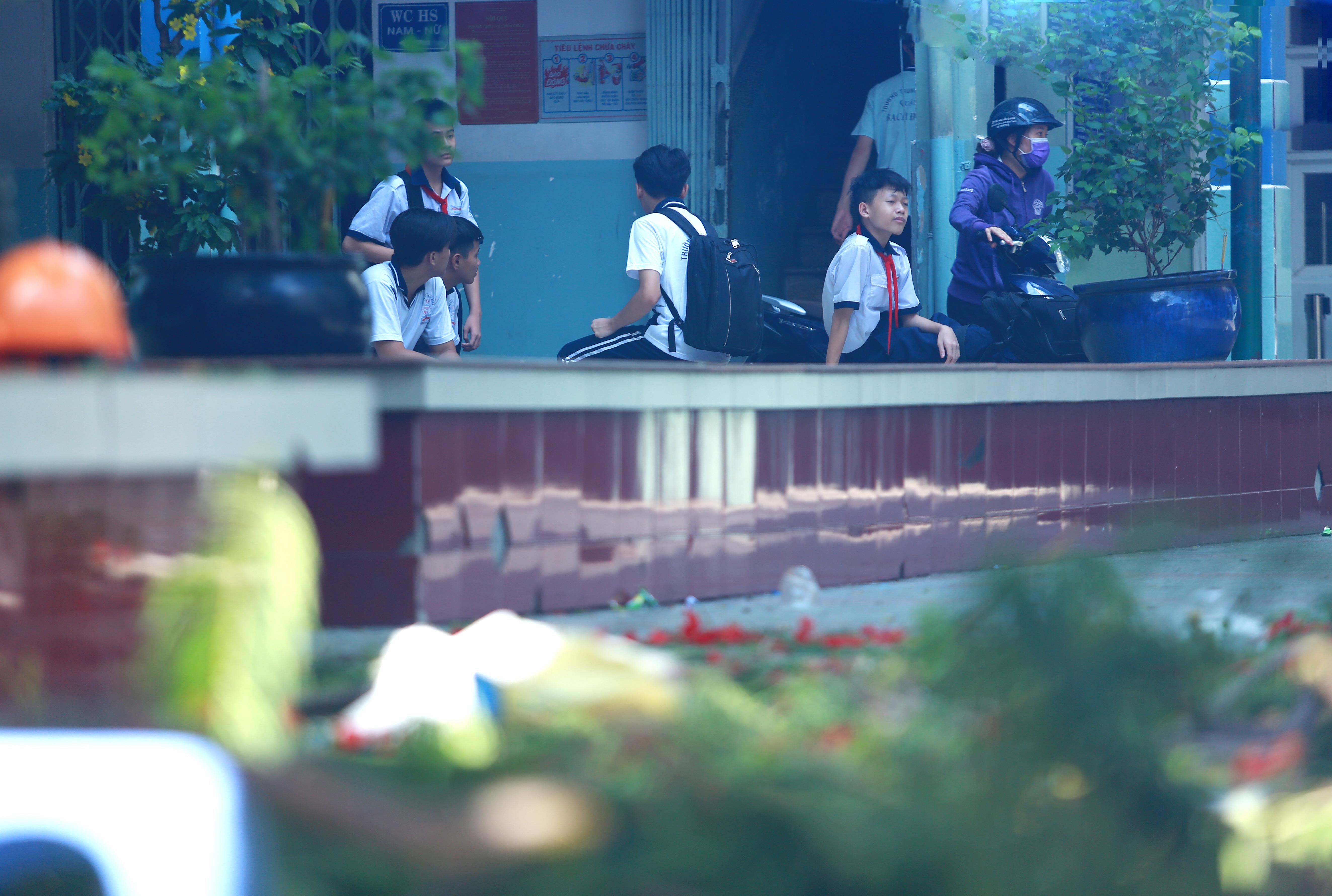 Cận cảnh gốc phượng vĩ mục ruỗng đổ gãy đè 13 học sinh thương vong ở Sài Gòn - Ảnh 12.