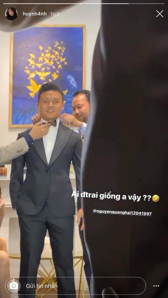 Vừa về nhà ra mắt, người yêu mới của Quang Hải đã khiến dân mạng đoán già đoán non về video cảnh đi thử vest cùng nam cầu thủ - ảnh 2