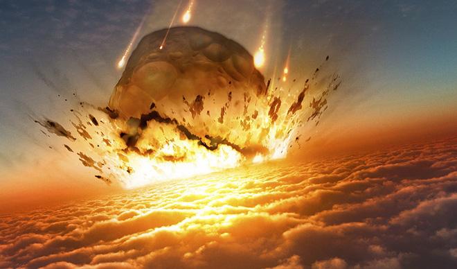 Hình ảnh mô phỏng lại khoảnh khắc thiên thạch khổng lồ lao thẳng vào Trái Đất khiến loài khủng long bị tuyệt chủng