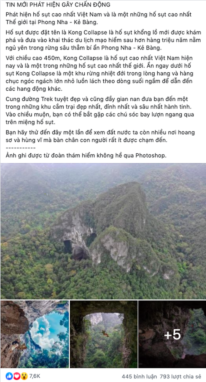 """Chàng trai lần đầu tiết lộ nhiều sự thật ít biết về """"hố tử thần"""" cao nhất Việt Nam, khẳng định nhiều bài đăng trên MXH đưa thông tin sai lệch gây hiểu lầm - Ảnh 2."""