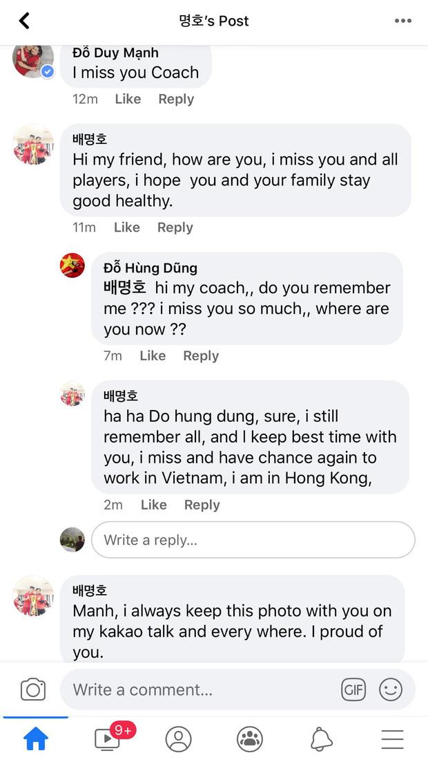 Bất ngờ với trình tiếng Anh của Duy Mạnh, Hùng Dũng khi nhắn tin than nhớ cựu HLV thể lực tuyển Việt Nam - Ảnh 1.