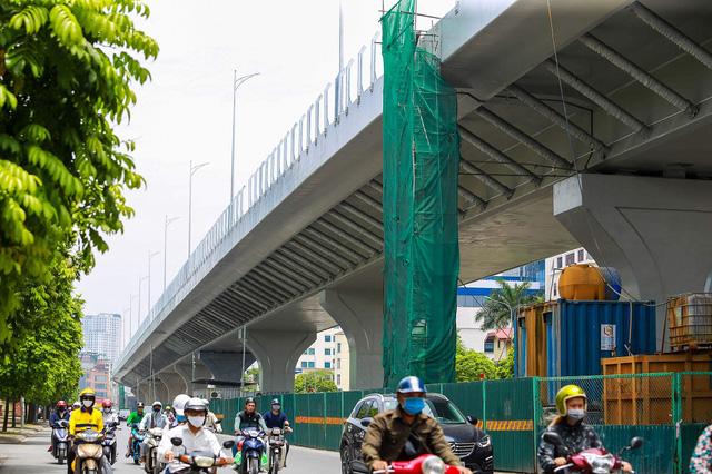 Cận cảnh đường vành đai 2 của Hà Nội sau 2 hơn năm thi công  - Ảnh 7.