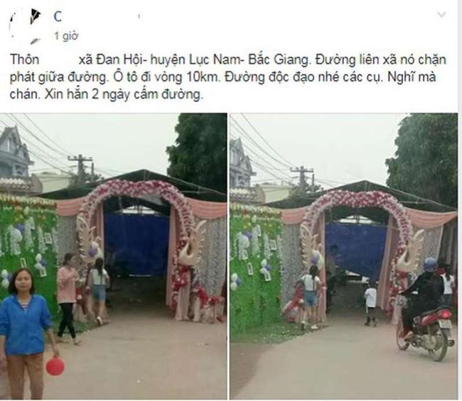 Hình ảnh rạp cưới dựng chiếm nguyên cả làn đường, dân mạng ngán ngẩm: Sợ người ta không biết nhà có hỉ hay sao? - Ảnh 3.