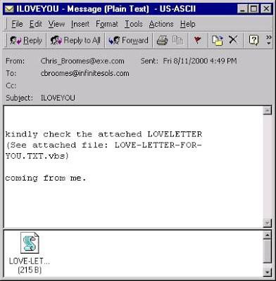 Bức email với tựa đề ngọt ngào nhưng đầy nguy hiểm.