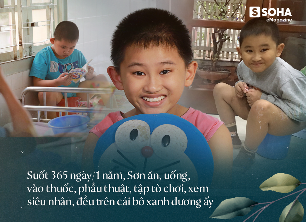 Cậu bé 12 năm sống trên chiếc bô xanh: Khát khao sống của đứa trẻ không bụng, mang bệnh 1 tỷ người mới có 1 người bị - Ảnh 16.