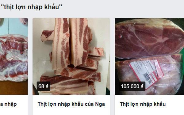 Thịt lợn nhập khẩu rao bán tràn lan trên chợ mạng, giá loạn - Ảnh 1.
