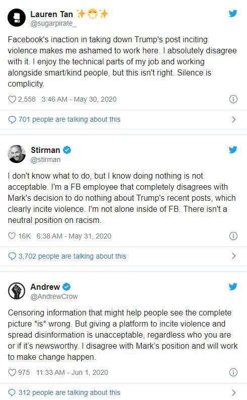 Im lặng là đồng lõa: Nhân viên Facebook lên Twitter để chỉ trích ông chủ của mình - Ảnh 2.