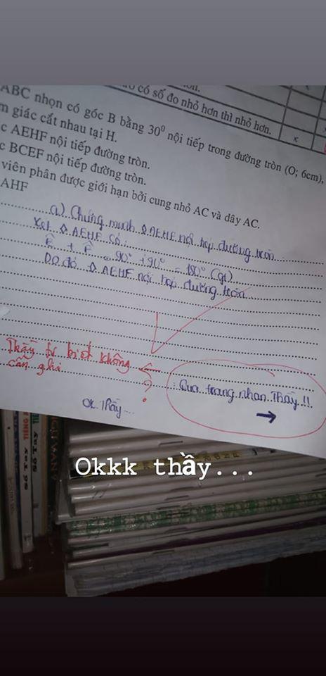 Học sinh khoanh sai đáp án trong bài kiểm tra đã buồn nẫu ruột, ai ngờ cô giáo còn troll thêm 1 câu siêu mặn mòi như này - Ảnh 2.