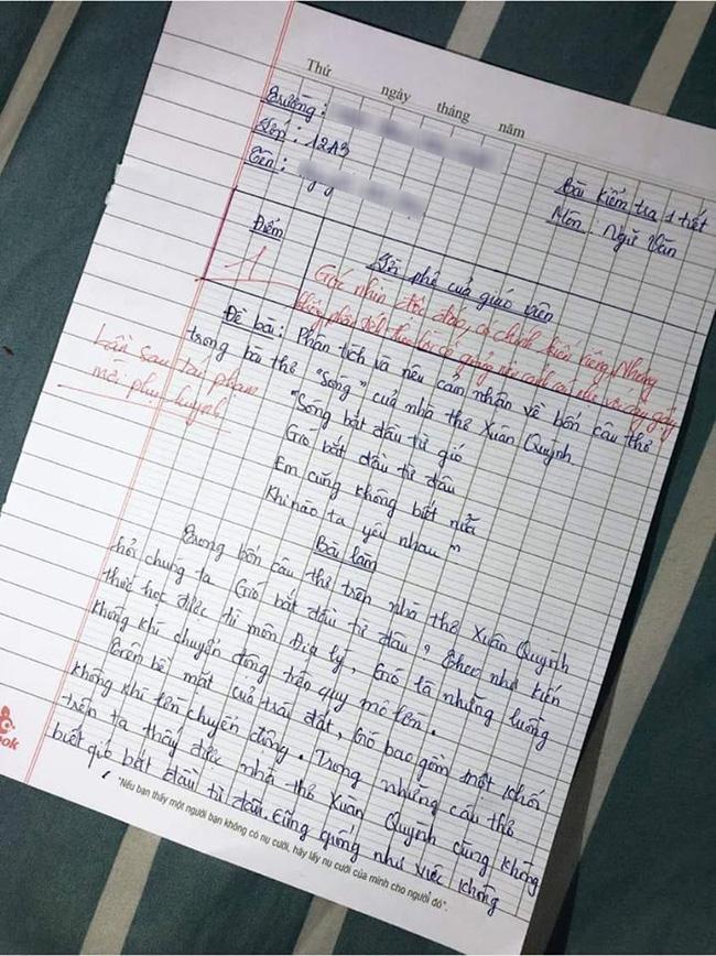 Học sinh giỏi Địa phải phân tích Văn, đọc xong cô giáo khen nức nở nhưng điểm số cuối cùng mới khiến ai nấy sửng sốt - Ảnh 1.